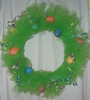 Homemade Tulle Tutu Easter Wreath
