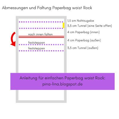 Einfache Anleitung für einen Paperbag waist skirt bei pina-lina