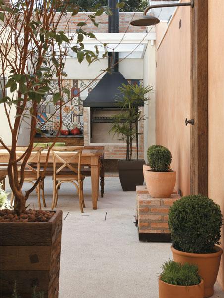 Paredes terracota jeito de casa blog de decora o e for Modelos de patios de casas pequenas