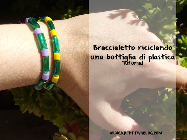 perle di plastica per realizzare braccialetti colorati e di riciclo