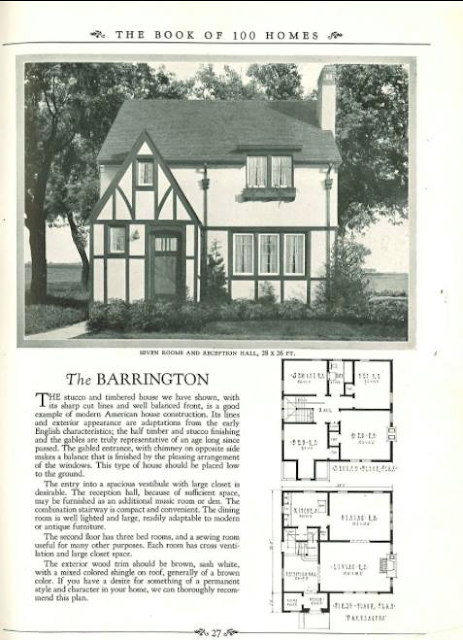 Brown-Blodgett's Sears Barrington lookalike is named The Barrington--no kitchen nook