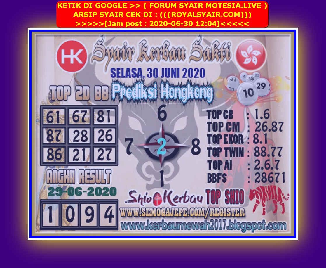 Kode syair Hongkong Selasa 30 Juni 2020 157