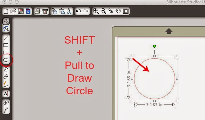 Draw, perfect, circle, square, straight line, Silhouette Studio, draw a circle