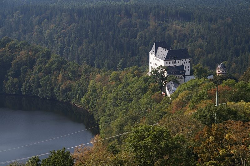 Schloss Burgk in Thüringen, Blick vom Saaleturm