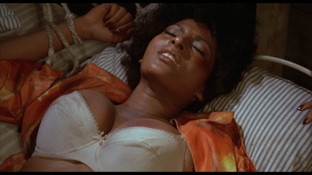 Foxy brown tied to a bed, high off of smack