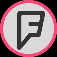 foursquare button outline
