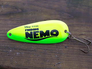 Finding Nemo, Nemo, Pixar, leurre de pêche, cuillère de pêche Nemo, Daniel Lefaivre, Blogue de pêche, Williams, Wabler