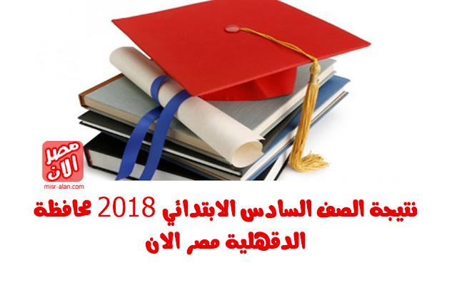 نتيجة الصف السادس الابتدائي 2018 محافظة الدقهلية