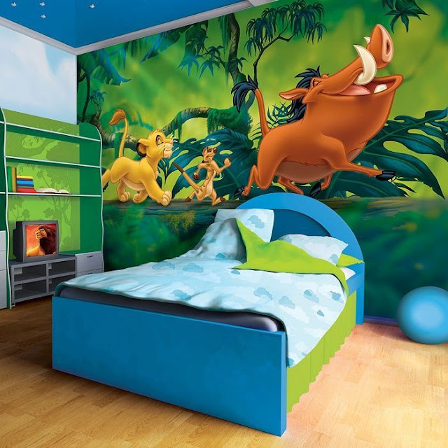 Childrens wall murals Lion King Disney