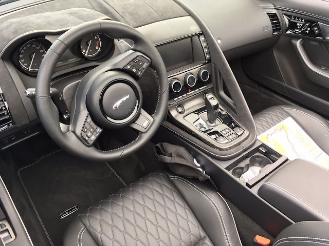 Interior view of 2017 Jaguar F-Type SVR