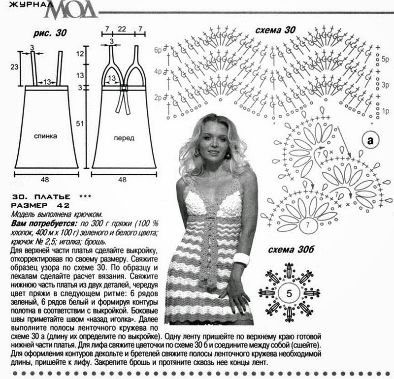Solero encantador con punto zig-zag | Todo crochet