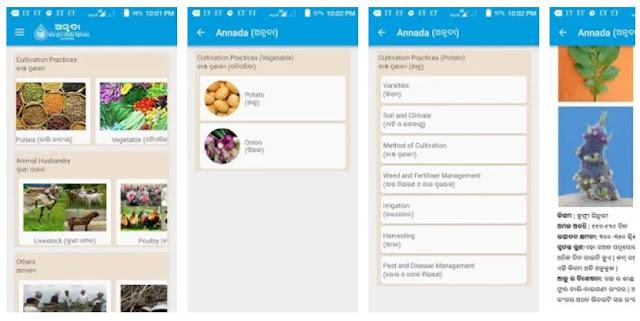 Annada - Odisha  Farmer information Mobile App