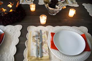 Celebration table place setting