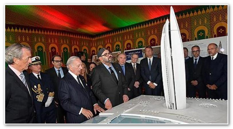 """الملك محمد السادس يترأس حفل الإطلاق الرسمي لأشغال بناء """"برج محمد السادس"""" بالضفة اليمنى لنهر أبي راقراق"""