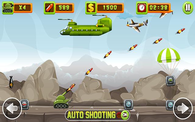 Tank Firing v1.1.8 Mod tiền vàng - Game bắn xe tăng cho android