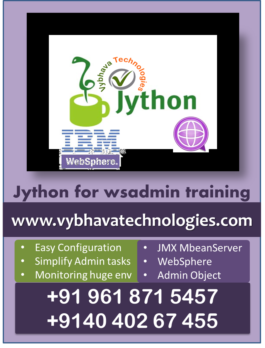 Jython for IBM WebSphere admin Course