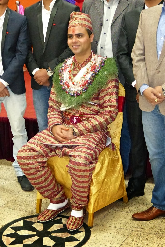 Nepali groom in traditional attire