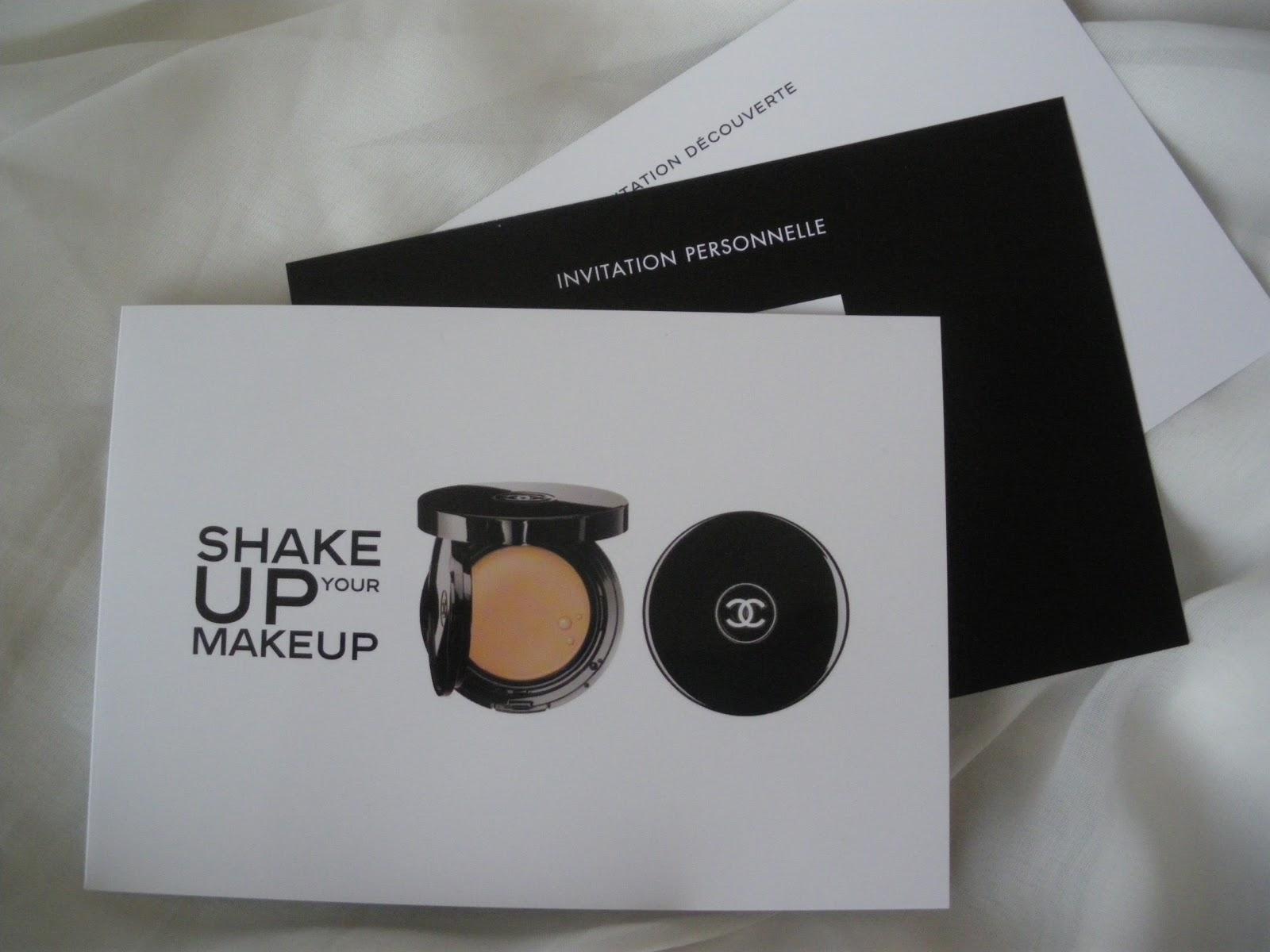 Une jolie invitation par ma parfumerie pour une mise en valeur du teint par  Chanel, et ainsi tester leurs fonds teint à base d eau. 740ac58add88