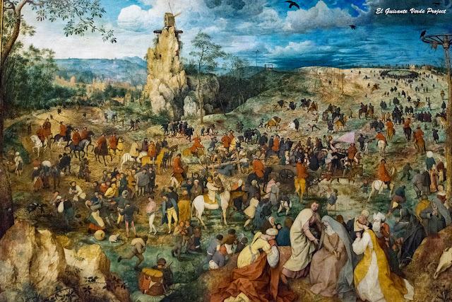 Pieter Bruegel, Camino del Calvario - Kunsthistorisches Museum, Viena por El Guisante Verde Project