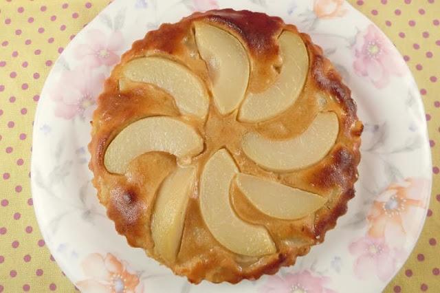 トースターを使った桃のケーキ