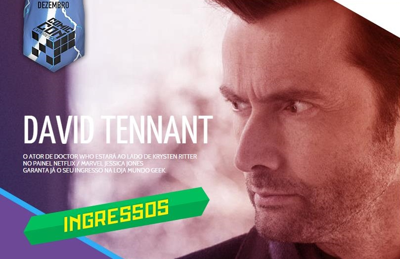 David Tennant to appear at Comic Con Brazil on Friday 4th December