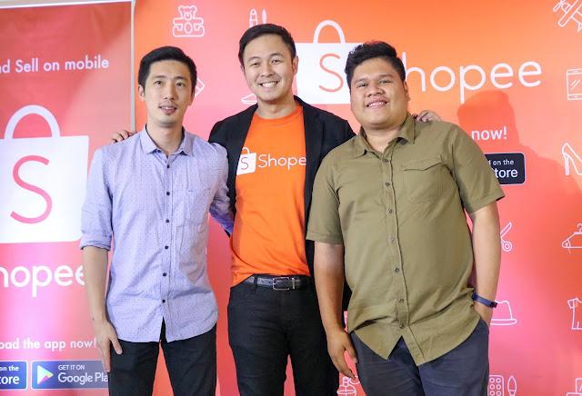 (L-R) Vincent Zhang, Honor Representative, Martin Yu, Associate Director Shopee Philippines, Miguel Bonifacio, Honor Representative