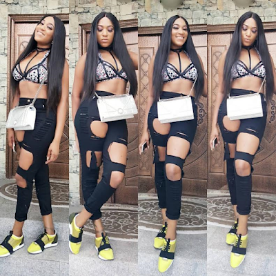 photos:Rukky Sanda stepped out in attractive and  sexy outfit to a pool party