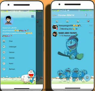 BBM MOD Doraemon Transparan v3.0.1.25 Apk Terbaru