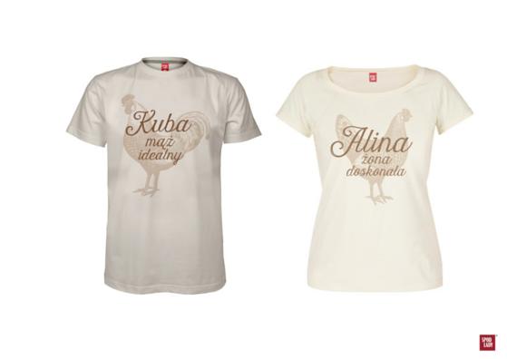 koszulki dla nowożeńców prezent