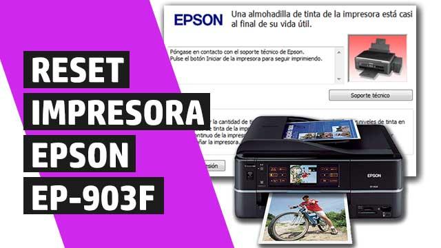 resetear almohadillas impresora Epson EP903F