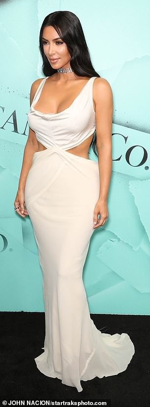 Kim Kardashian dazzles as she arrives at Tiffany party in NY