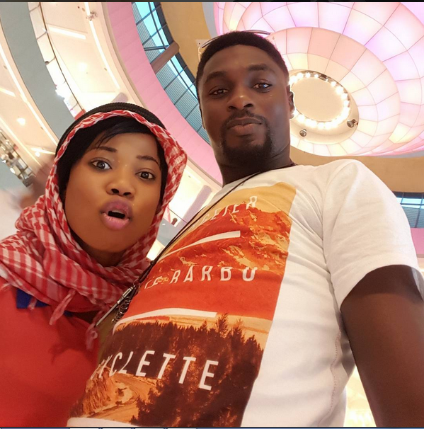Artiste Oluwaseyi Edun Poses With Odion Ighalo In Dubai
