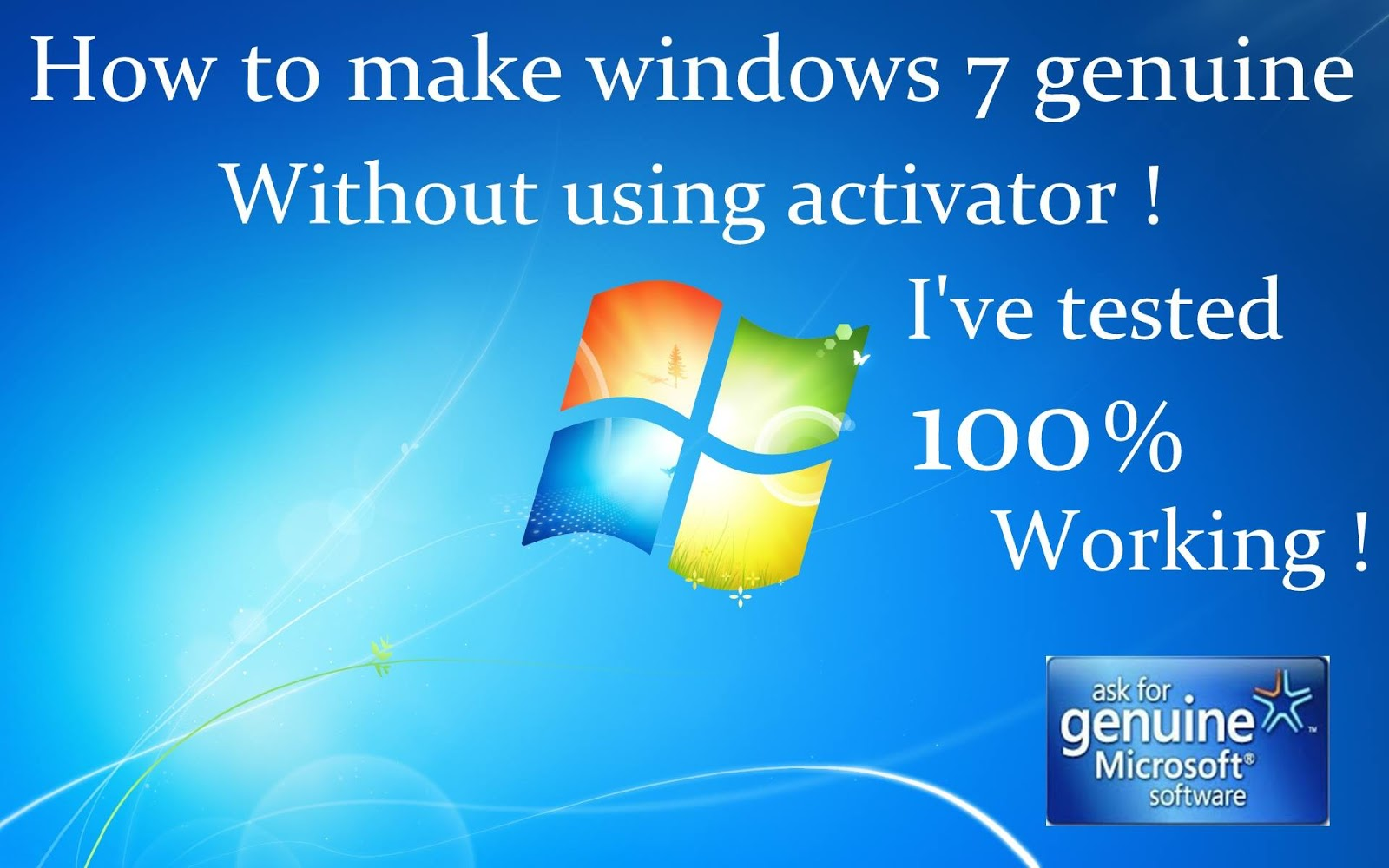 how to make windows genuine permanently