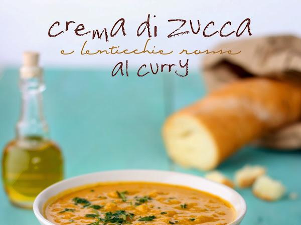 Crema di zucca e lenticchie rosse al curry