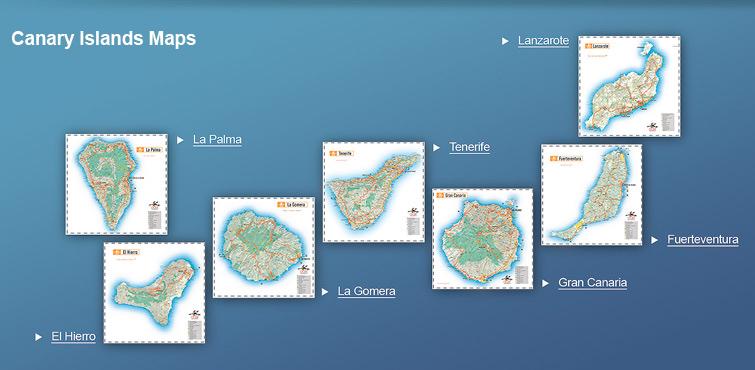 Mapas das Ilhas Canárias | Espanha