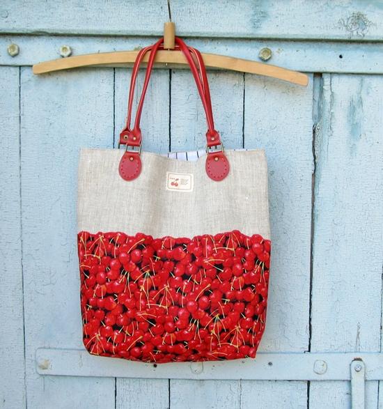 сумка с вишней, шитье, bag, sewing