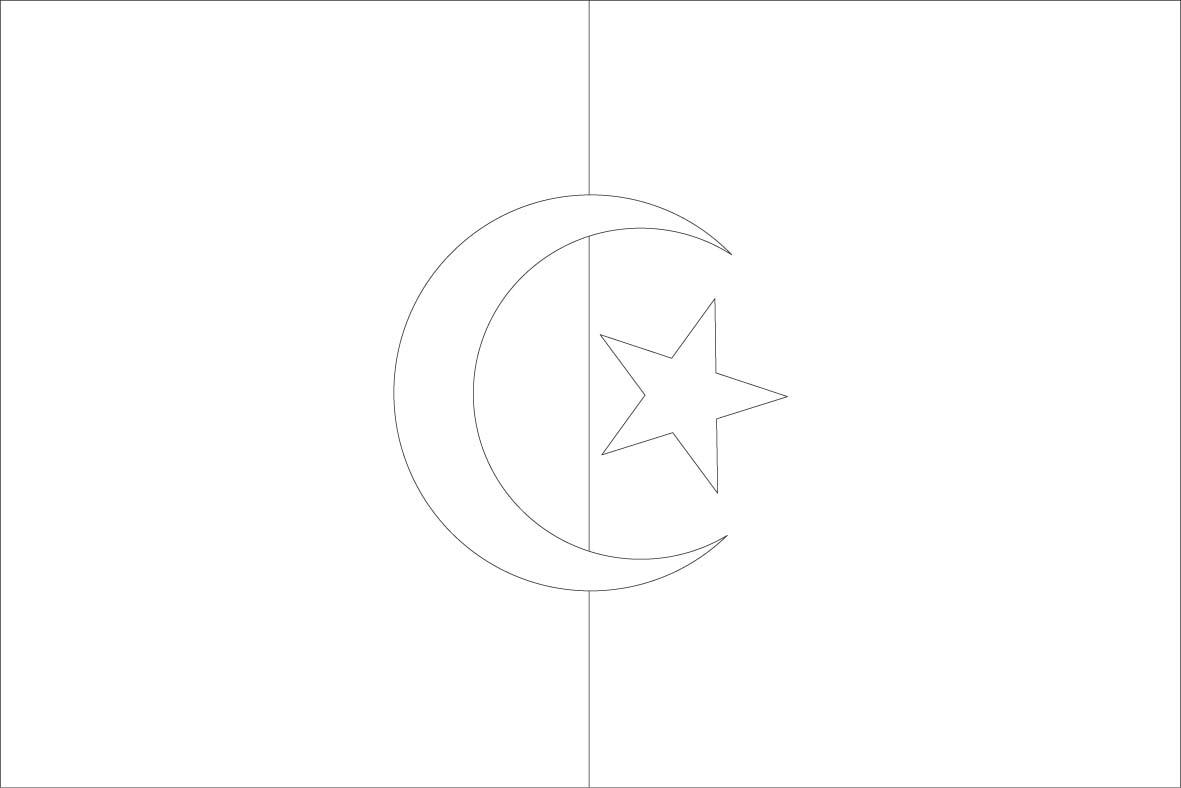 Dessins et coloriages page de coloriage grand format imprimer le drapeau alg rien toile - Coloriage grand format ...