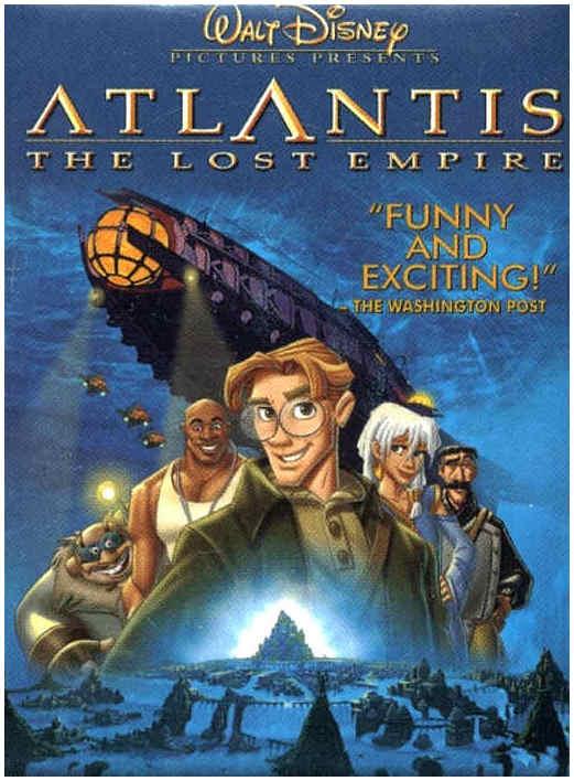 Animated Film Reviews Atlantis The Lost Empire 2001