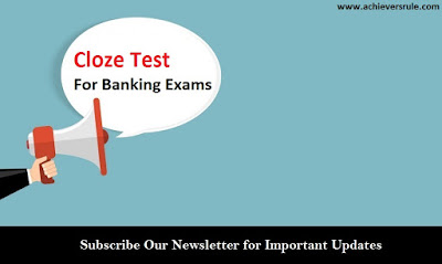 Cloze Test For Banking Exams - Set 2