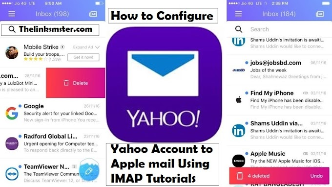 How to Configure Yahoo Account to Apple mail Using IMAP