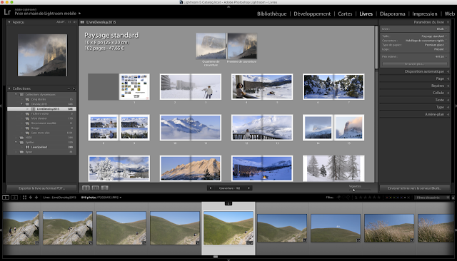 Livre photo avec Lightroom et plugin Blurb