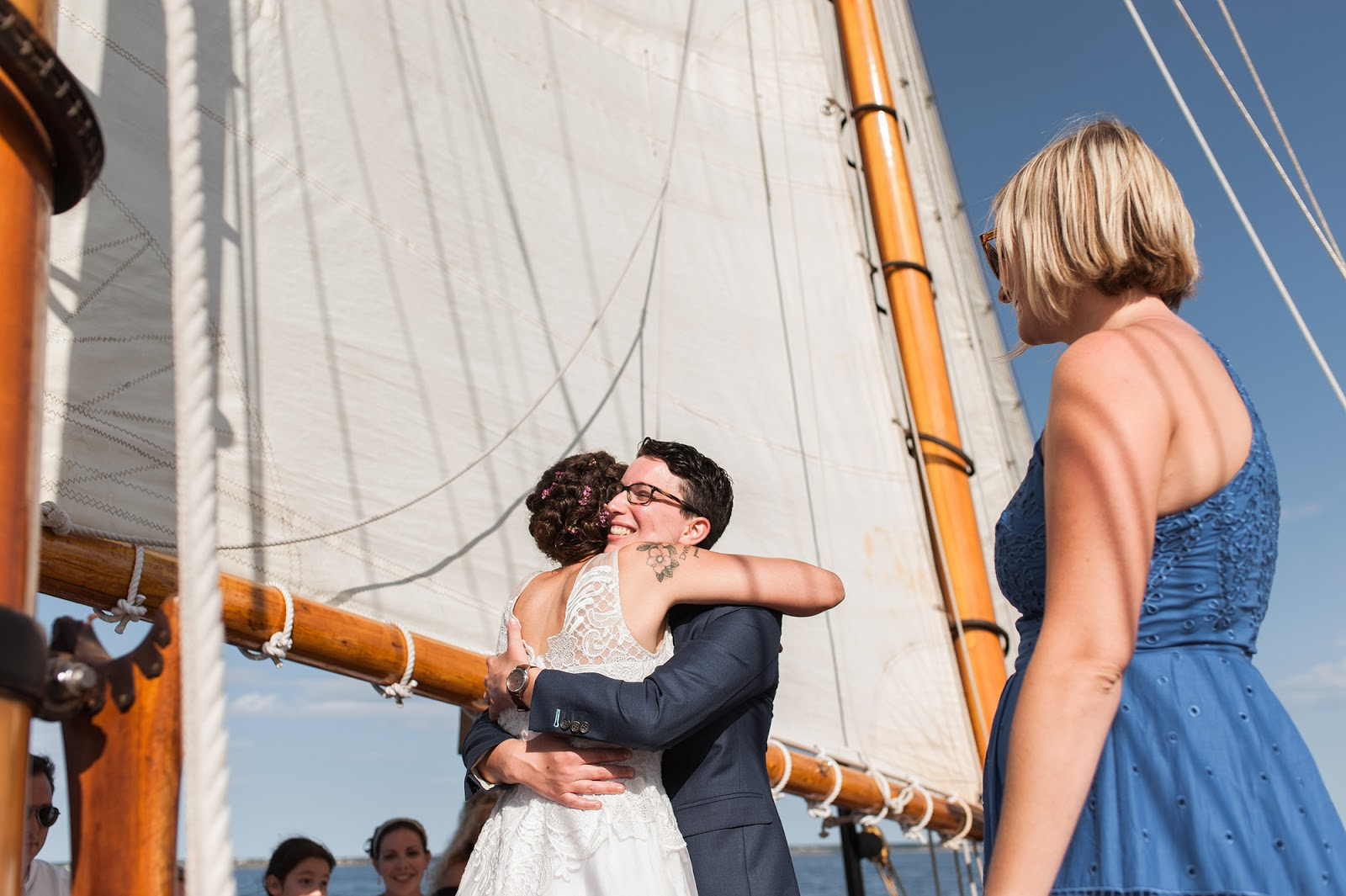 Cape Cod Wedding Provincetown aboard Hindu Schooner from Eileen Meny Photography