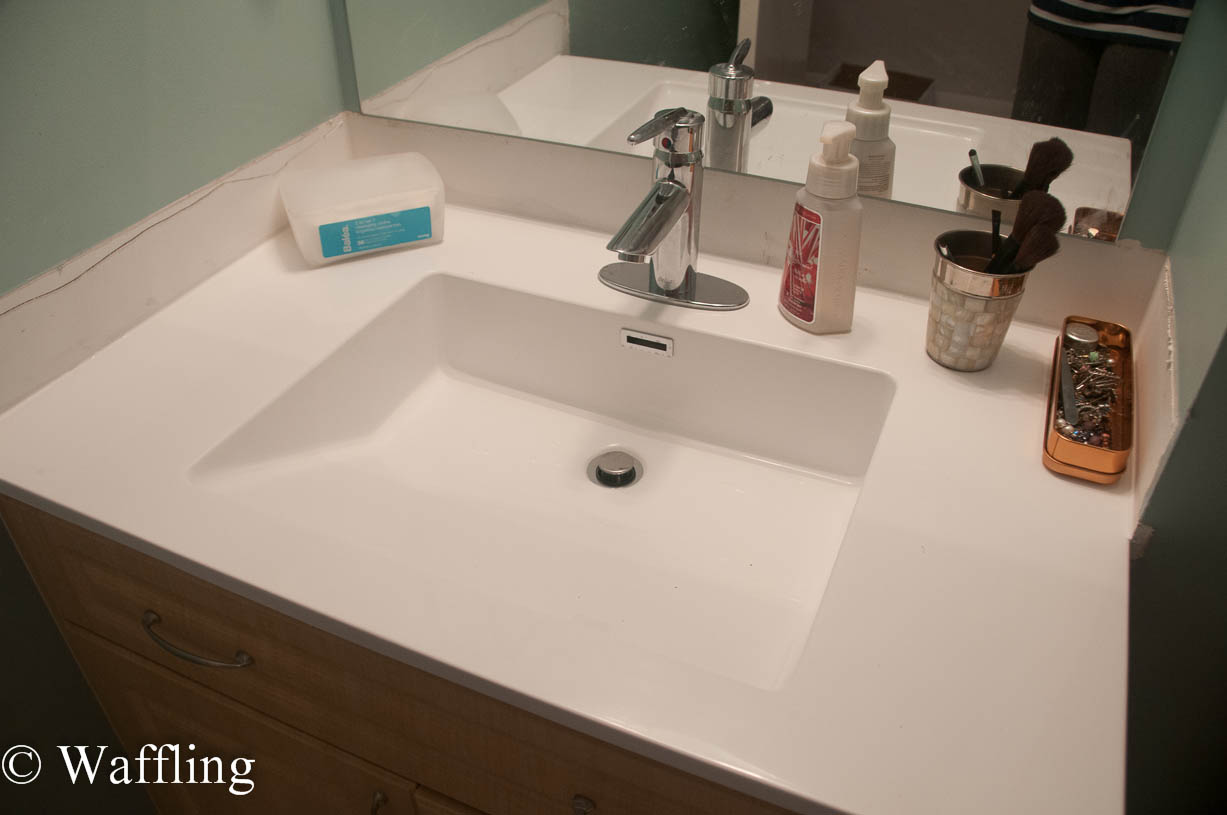 Waffling: Installing a New Bathroom Countertop!