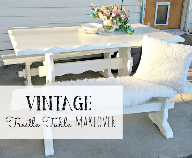 trestle table makeover