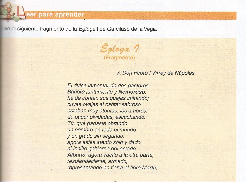 Castellano Y Literatura Fj Egloga I De Garcilaso De La Vega