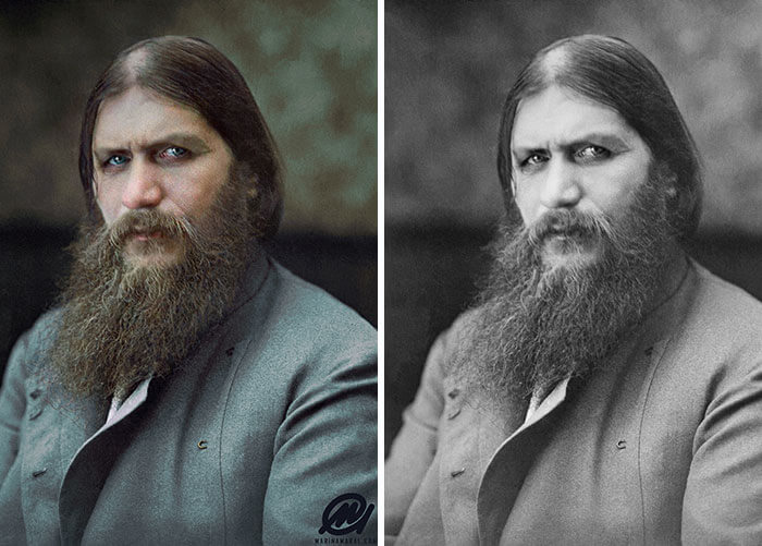 Digital Artist Colorizes The Last Heartbreaking Pictures Of A 14-Year-Old Polish Girl In Auschwitz - Grigori Rasputin