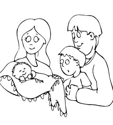 Resultado de imagem para desenho de família para pintar