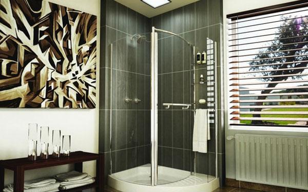 Desain Kamar Mandi Modern dengan Shower