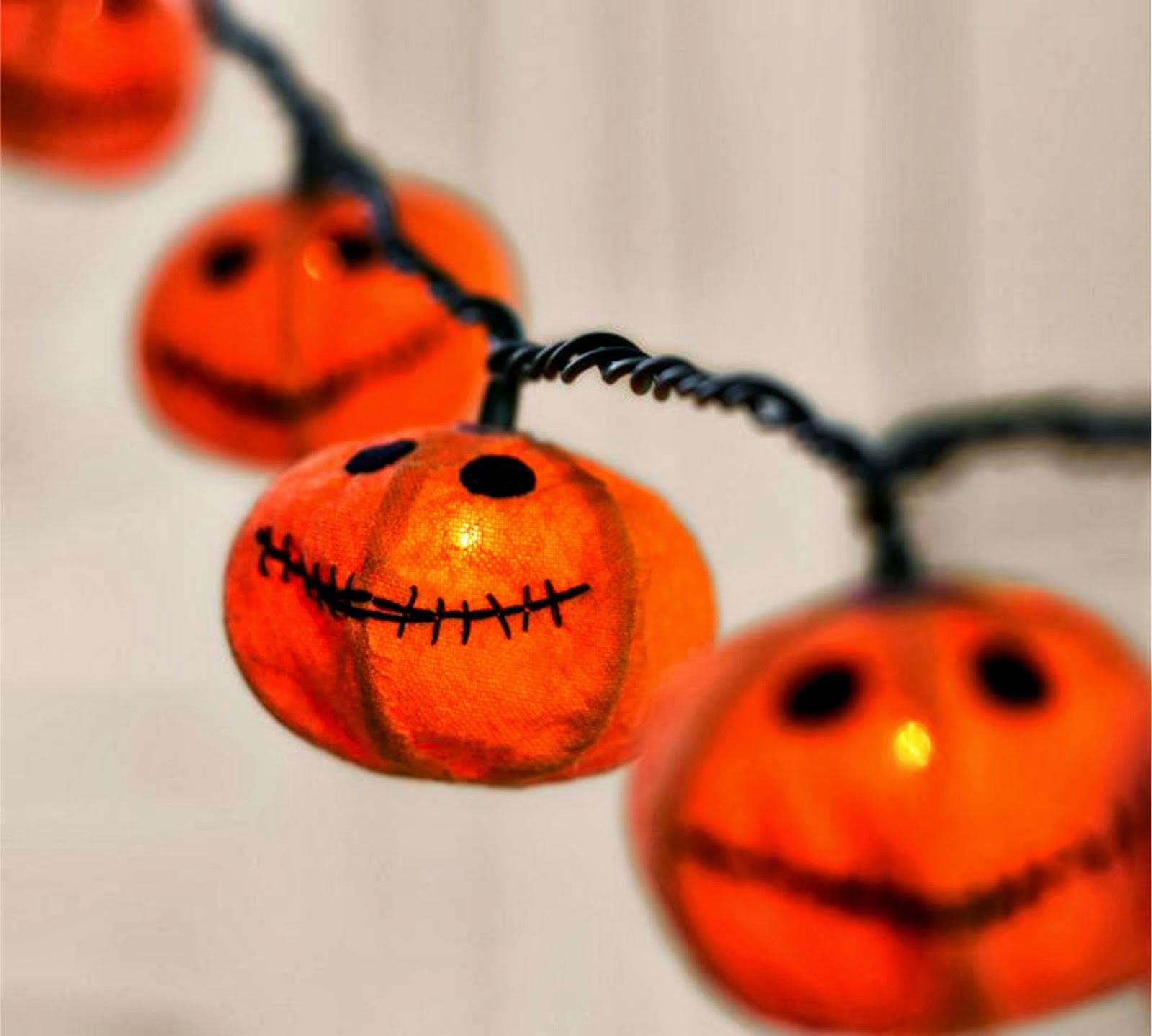 J Thaddeus Ozark S Cookie Jars And Other Larks Burlap Pumpkin Halloween Lights