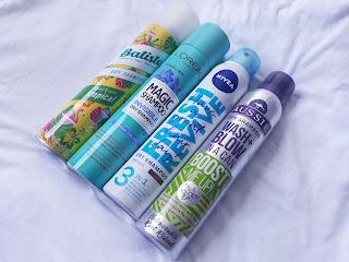 Czy znalazłam graal wśród suchych szamponów? Batiste vs L'Oreal vs Nivea vs Aussie.